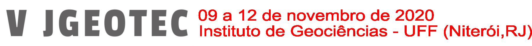 V Jornada de Geotecnologias do Estado do Rio de Janeiro